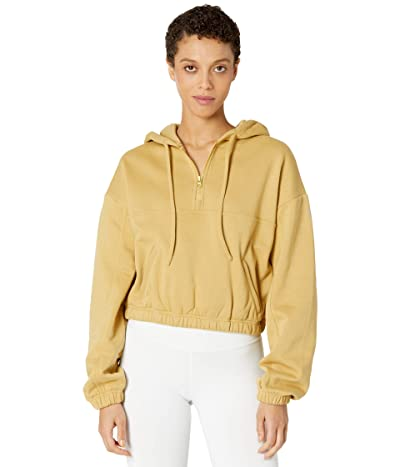 ALO Stadium 1/2 Zip Hoodie (Honey) Women