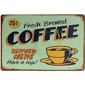 Kentop Plaque Poster Mural Peinture de Fer Vintage Plaque en m/étal Mural Signe Affiche Motif de Garage Plaque Cafe Home Bar Cuisine Sticker Mural de d/écoration