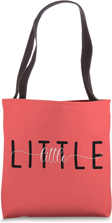 Little Pledge Rush Alumnae Sorority Big Little Caligraphy Tote Bag