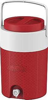مبرد مياه كوزموبلاست معزول بلاستيكي بسعة 3 جالون - احمر، 13 لتر