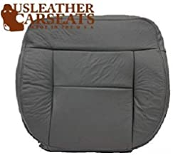 Us Leather Car Seats Compatible with 2004-2008 Ford F150 Lariat FX4 4X4 Bucket Driver Bottom Leather Seat Cover Gray