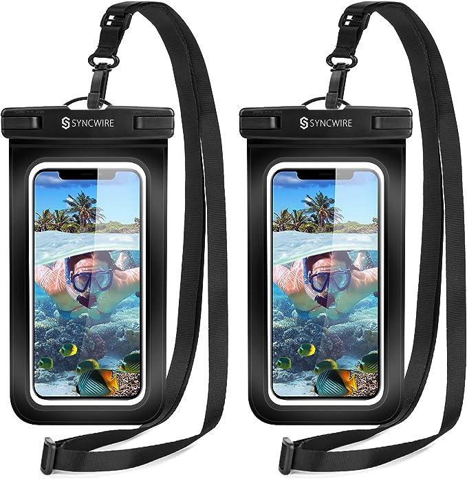 3555 opinioni per Syncwire Custodia Impermeabile Smartphone Borsa- 2 Pezzi 7 Pollici IPX8 Porta