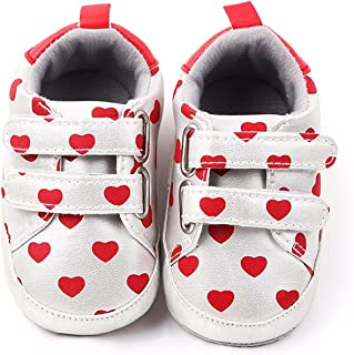 Baby Boys Girls Cute Love Print Shoes Newborn Prewalkers Toddler Anti-Slip Soft Sneakers Shoes (Color : A1, Size : 0-6 Mon...