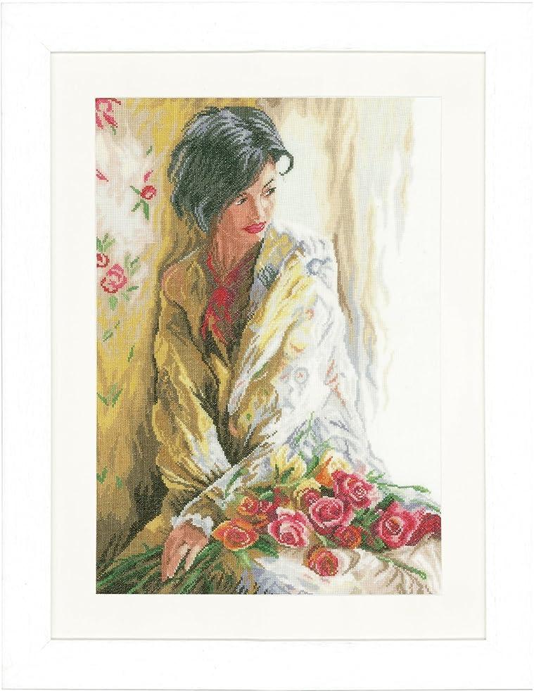 Counted Cross Stitch Kit: Morning Beauty (Linen)