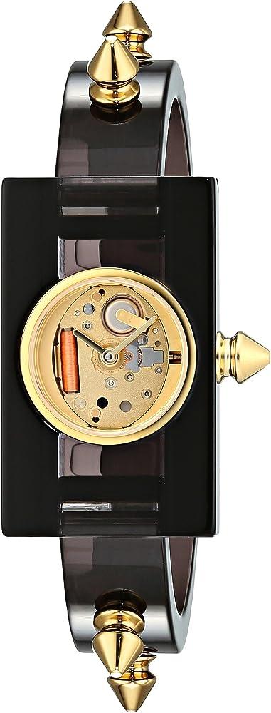 Gucci,orologio per donna, in in plexiglas con borchie dorate rivestite in pvd YA143508