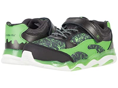 Stride Rite Lighted Swirl (Little Kid) (Black/Lime) Boys Shoes