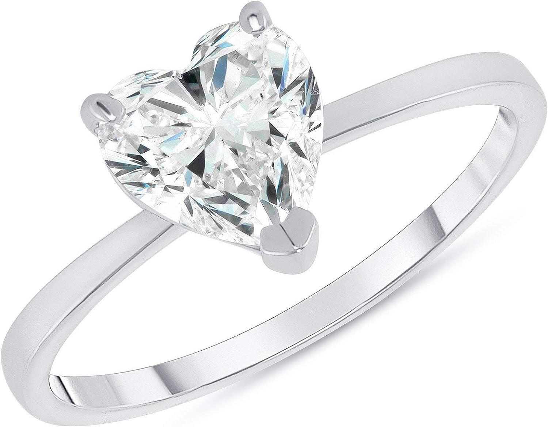 Elegant 14k Gold Heart-Shaped CZ Engagement Ring