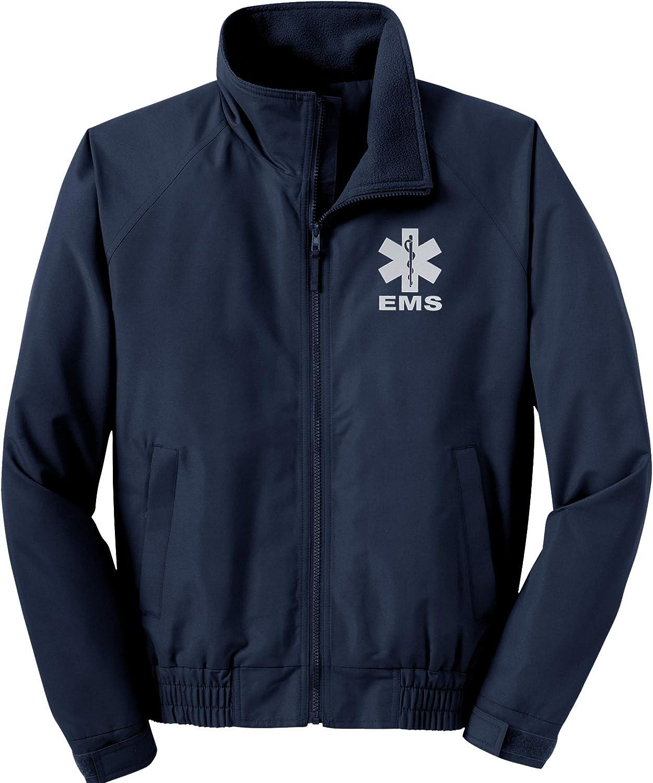 Smart 値下げ People Clothing EMS トレンド Navy Economy Logo Reflective Jacket F