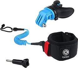 CamKix Surf Kit di Montaggio Bocca & Cinghia da Braccio Compatible con tutte le Telecamere GoPro Hero e altre Telecamere con Supporto compatibile - Soluzione a Mani Libere per Sport d'Azione Acquatici - Boccaglio: Bocchette Ventilate - Cinghia da Braccio: