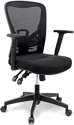 Modway Define Mesh Ergonomic Office Desk Chair in Black