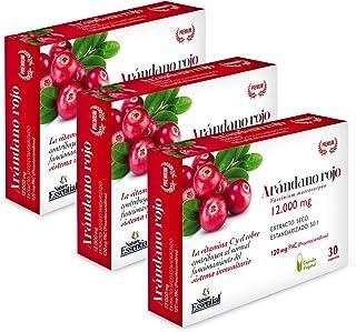 Nature Essential Arándano con Gayuba. D-manosa. vitamina C y cobre. rojo extracto seco 240 mg (120 mg PAC) - 30 cápsulas vegetales. Pack 3 unidades