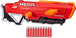 NERF MEGA AccuStrike - Thunderhawk Blaster - Extends to Over 1m - Inc 10 Darts & Clip - Kids Toys & Outdoor Games - Ages 8+