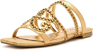Katy Perry Women's The Anat Slide Sandal, NEW GOLD, 9.5
