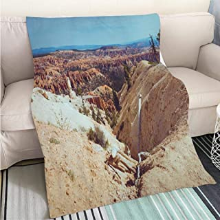 Creative Flannel Printed Blanket for Warm Bedroom at Bryce Canyon National Park Peek a Boo Trail Perfect for Couch Sofa or Bed Cool Quilt