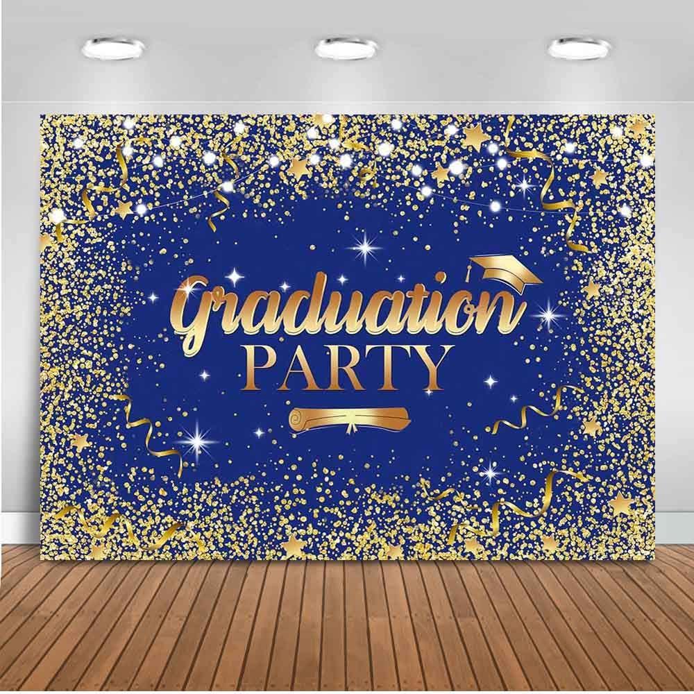 Mocsicka Class Cheap sale of San Francisco Mall 2021 Backdrop Royal Glitter Gold and Blue Cong