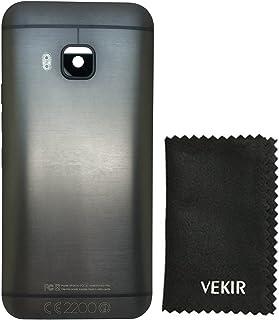 باب بطارية في كير مع غطاء زجاجي كاميرا متوافق مع HTC One M9(أسود)