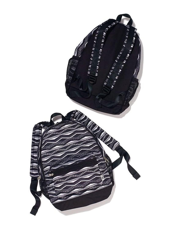 Victorias Secret PINK Campus Backpack, Black/Whtie Aztec