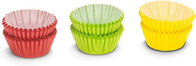 """Patisse 01725 Paper Candy Cases, Red, Green, Yellow Colors, 1"""" (2.5 cm) diameter, 150 pieces(3x50), 1"""""""