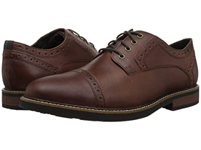 Nunn Bush Overland Cap Toe Oxford with KORE Walking Comfort Technology (Rust) Men
