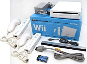 Nintendo Wii Video Game System with TWO Controllers and Nunchuks Bundle RVL-001 GameCube Console WHITE photo
