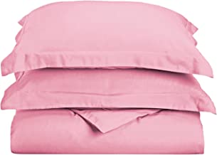 Superior 1500 Series Premium Quality 100% Brushed Microfiber Duvet Cover Set with Pillow Shams, Classic Sateen Stripe, Coo...