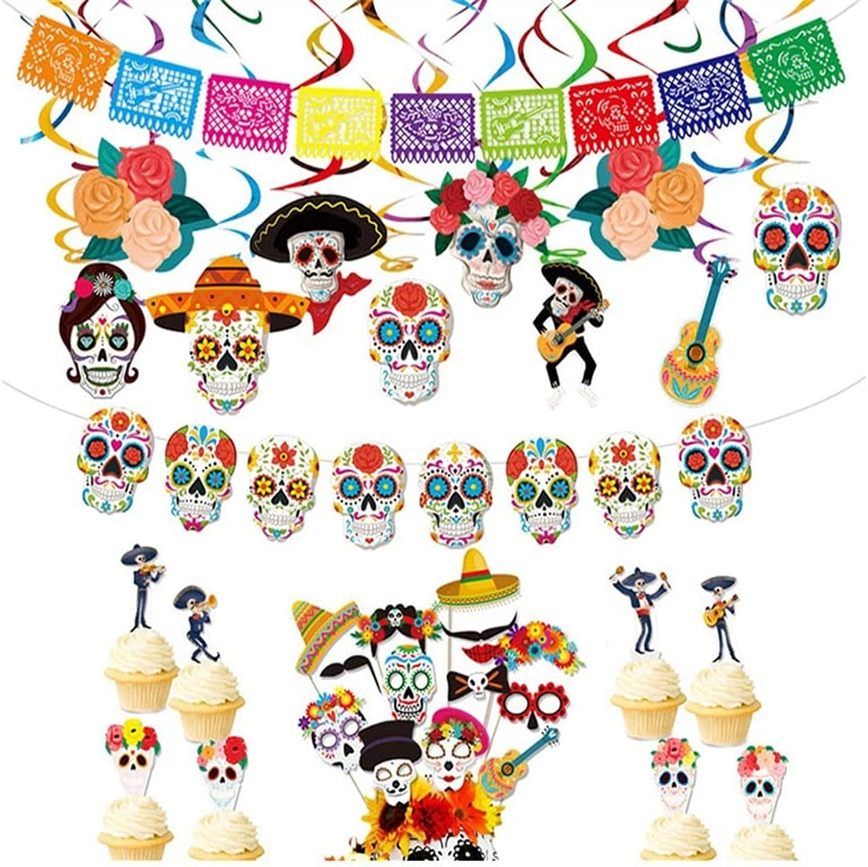 Halloween Couplet Banner Decorations F Felt Max 52% OFF Papel Selling and selling Mexican