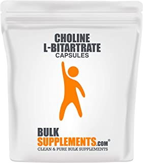 Bulksupplements Choline L-Bitartrate (100 Vegetarian Capsules)