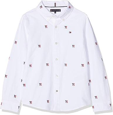 Tommy Hilfiger Allover TH Oxford Shirt L/S Camisa Manga Larga ...