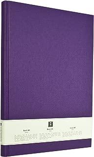 Semikolon Classic Letter/A4 Size Bound Linen Blank Book, Plum (10218)