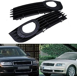 Pair ABS Plastic Front Bumper Fog Light Grill Grilles For Audi A8 D3 2005-2008 Pre-Facelift 4E0807681AD 4E0807682AD
