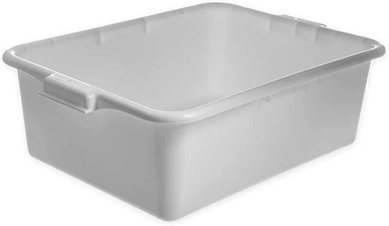 Carlisle N4401102 Comfort Curve Ergonomic Wash Basin Tote Box 7 Deep White