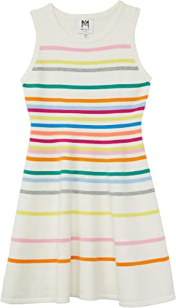 Rainbow Stripe Flare Dress (Big Kids)