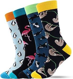 Kordear, Calcetines de vestir divertidos para hombre - Calcetines informales y elegantes para hombre de algodón estampados coloridos