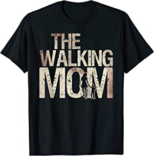 Walking Mom Zombie Woman And Kid Mother's Day Apocalypse T-Shirt