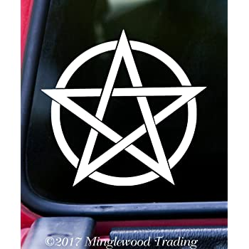 GODDESS SYMBOL Vinyl Decal Sticker Wiccan Wicca Pagan Pentagram 5 ELEMENTS