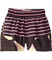Flowers and Stripes Elastic Waist Trunks (Toddler/Little Kids/Big Kids)
