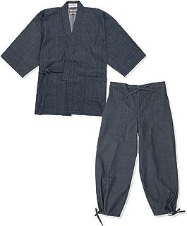 【日本製】 カイハラデニム・ピマ綿作務衣 <IKISUGATA> 和粋庵特製巾着付き