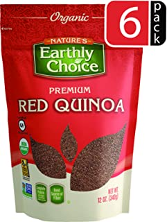 Nature's Earthly Choice Organic Red Quinoa, 6 x 12 Ounce