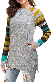 Women's Long Sleeve Loose Casual Sweatshirt Pullover Tunic Tops