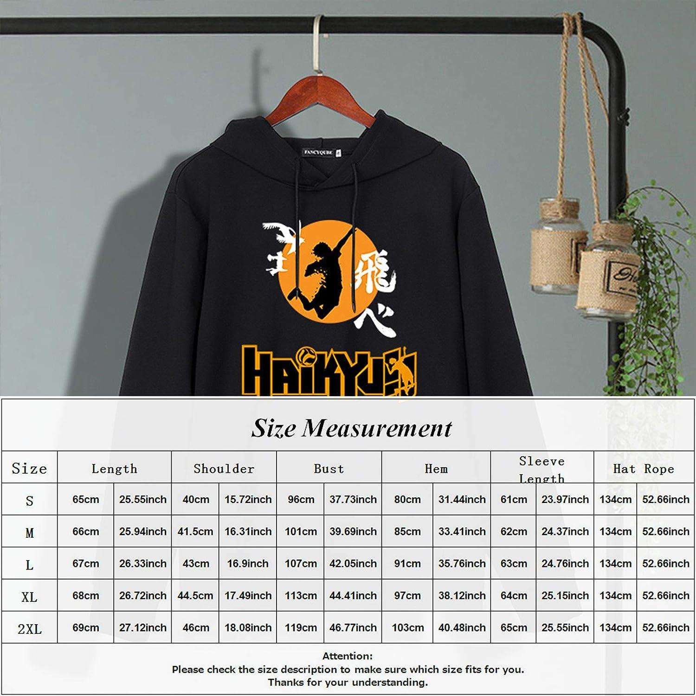 DesertCreations Haikyuu Hoodie Anime Karasuno Tops Volleyball Club Costume Pullover Sweatshirt and Baseball Cap