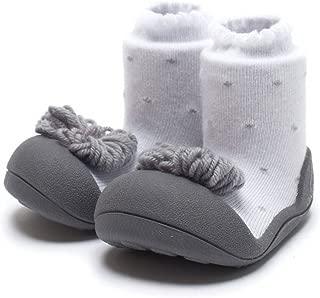 [Attipas] アティパス かわいい ベビーシューズ [ リボン ] / かわいいベビーシューズ 滑り止め 公園遊び 出産祝い プレゼント あんよの練習 保育園靴 ソックスシューズ プレシューズ 室内履き 女の子 男の子