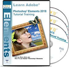 Adobe Photoshop Elements Tutorial Training for version 2018 3 DVDs 16 Hours 243 Videos