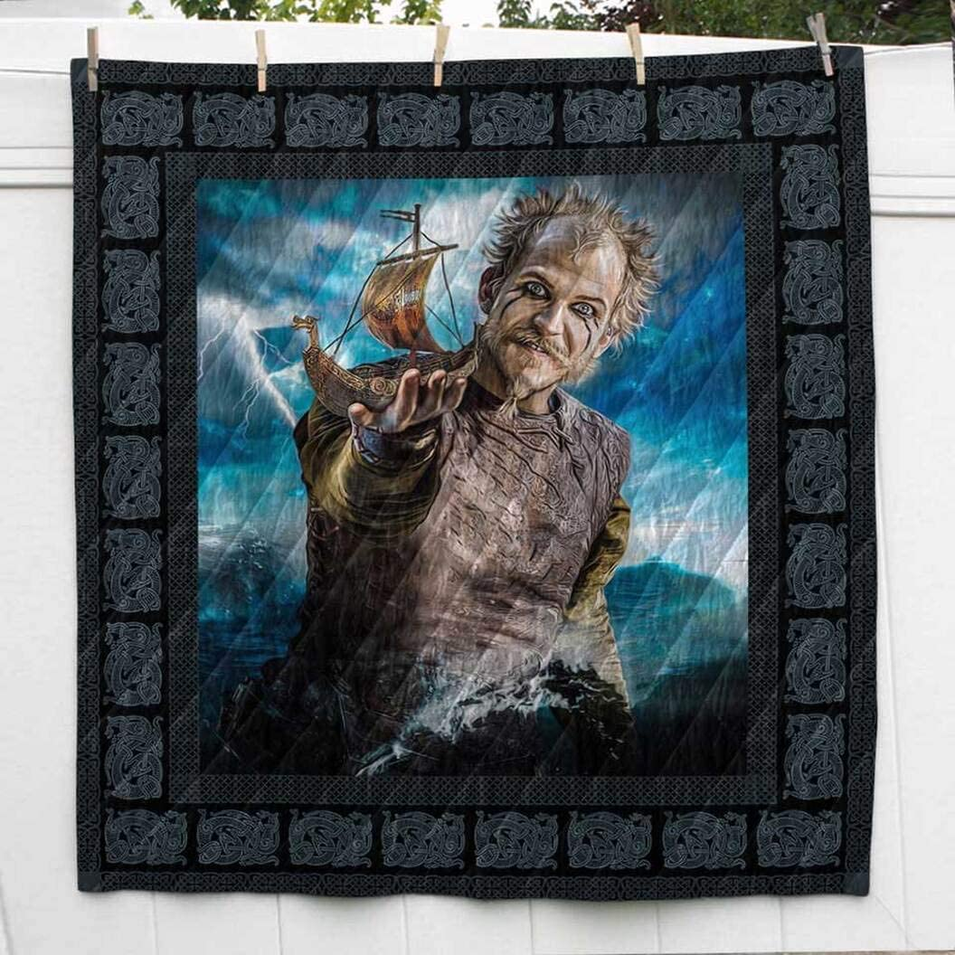 Floki Viking Quilt Max 55% OFF King Queen OFFicial mail order Twin Birthday Throw New Year Size
