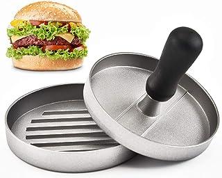 Best Burger Press — Aluminum Hamburger Patty Maker for Stuffed Burgers—Quality BBQ Grilling Accessories (Single)