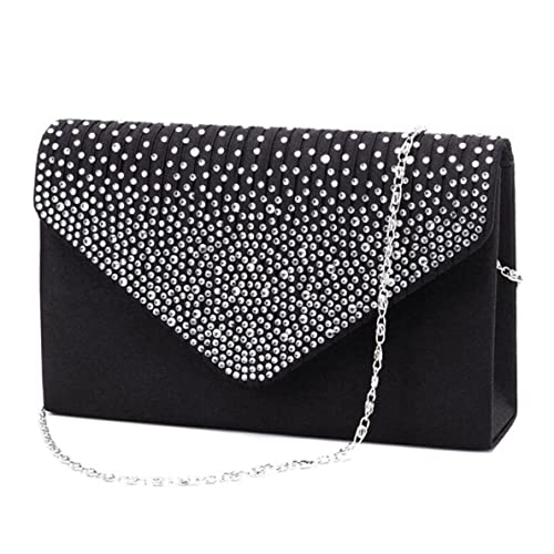 sophisticated technologies variety design select for original Black and Silver Clutch Bag: Amazon.co.uk