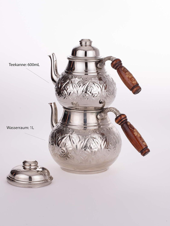 pichet de rechange Th/éi/ère turque Demlik - Oriental turc martel/é Th/éi/ère turque Mod/èle 1 Caydanlik Fait main Th/éi/ère turque en cuivre
