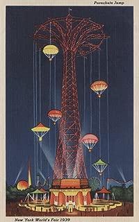 New York City, New York - Parachute Jump at World's Fair - Vintage Halftone (16x24 Giclee Gallery Print, Wall Decor Travel Poster)