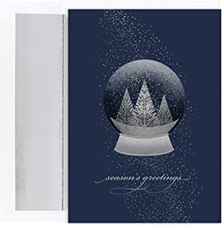 Masterpiece Studios Holiday Collection 16-Count Christmas Cards/16 Foil Lined Envelopes, 7.875