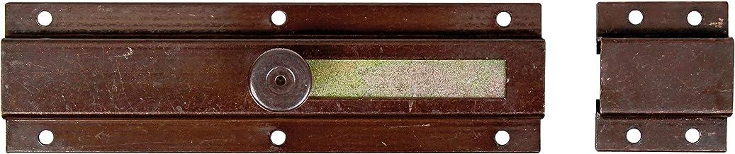 GAH-Alberts 111793 deurgrendel   met knopgreep, met lus   chemisch gezwart   200 x 57 mm