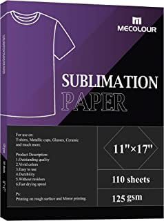 $26 » Sponsored Ad - MECOLOUR Sublimation Paper Heat Transfer Paper 11x17 Inch 110 Sheets 125gsm for Any Epson HP Canon Sawgrass...